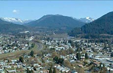 Oakridge is located in Lane County, OR about 45 miles east of Eugene